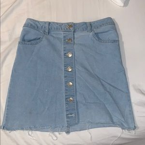 Forever 21 Button Up Denim Skirt (S 26)